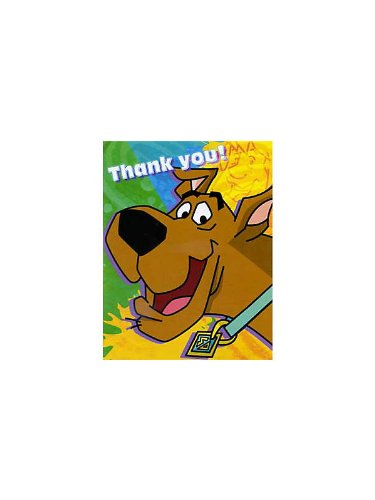 Scooby-Doo 'Mod Mystery' Thank You Notes w/ Envelopes (8ct) - 1