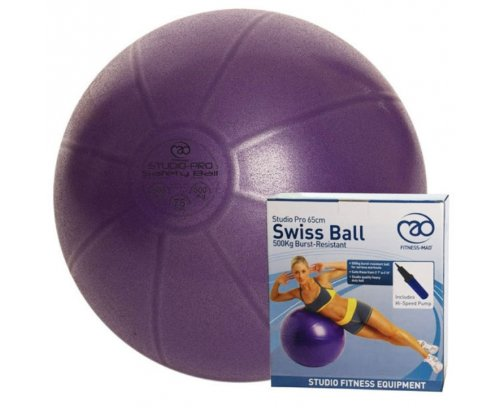 FITNESS-MAD 500KG Studio Pro Swiss Ball with Pump 55cm