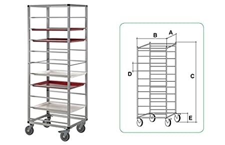 Horeca Products & Services Trolley Aluminium 530 x 325 MM 10 levels