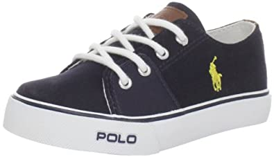 Polo Ralph Lauren Kids Cantor Lace-Up Sneaker (Toddler/Little Kid/Big Kid),Navy,4 M US Toddler