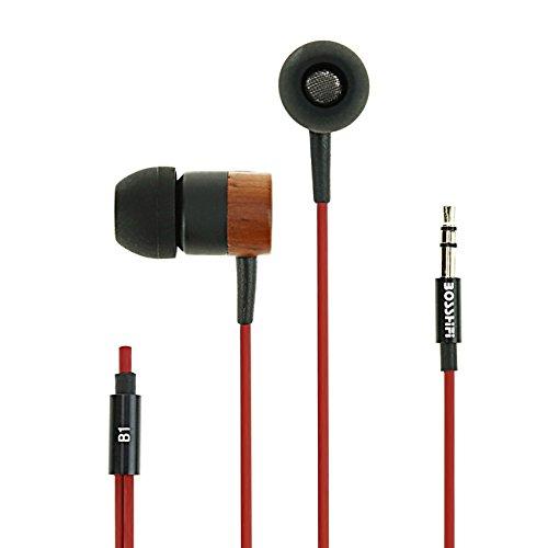 ASITA 純天然木製イヤホン、【メーカー直販1年保証】、高音質、重低音、ハイレゾ、耳に心地よい式イヤホン、騒音は隔離。iphone対応、android対応。スポーツ イヤホン、スポーツジム (マルーン)