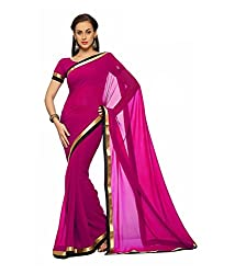 SRP Fashion Selection Women's Georgette Saree (SRP-OF48, Pink)