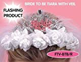 Saucy Hen Night Headwear Flashing Bride to Be Tiara with Veil