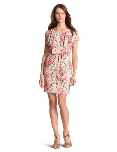 Julie Dillon Women's Printed Flutter Sleeve Dress