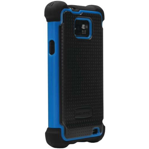 Ballistic SA0735-M375 Samsung Galaxy S II SG Case - 1 Pack - Retail Packaging - Black and Blue