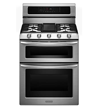 KitchenAid Architect Series II KDRS505XSS 30 Freestanding Dual-Fuel Double Oven Range, Self Clean