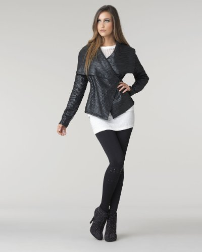 Pieced Ribbed Jacket by Shape FX