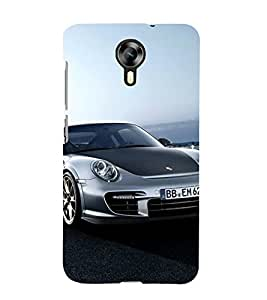 BLACK AND GREY SPEEDING SPORTS CAR 3D Hard Polycarbonate Designer Back Case Cover for Micromax Canvas Xpress 2 E313::Micromax Canvas Xpress 2 (2nd Gen)