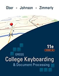 Gregg College Keyboarding & Document Processing Kit 1: Lessons 1-60 With Word 2010 Manual