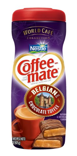 Coffee-Mate Belgian Chocolate Toffee Powdered Coffee Creamer, 15-Ounce Packages (Pack of 6)