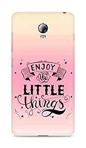 AMEZ enjoy the little things 2 Back Cover For Lenovo Vibe P1