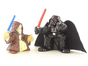 Star Wars Galactic Heroes Figures: Obi-Wan Kenobi and Darth Vader Two-Pack