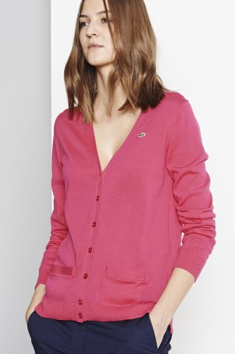 Long Sleeve Cotton V-neck Cardigan