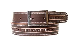 Thayla Men's Leather Belt (4503_Brown_42)
