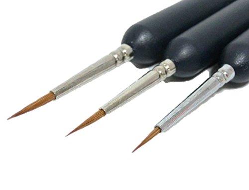 面相筆 極 細 3本 セット 大 中 小 ( ボディ フィギュア 塗装 用品 プラモデル 模型 筆 )