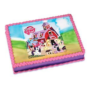 My Little Pony Edible Cake Image Topper