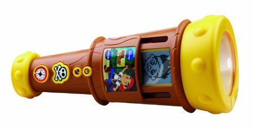 Sliding Lcd Screen Lets You Play Three Different Ways - Vtech Jake And The Neverland Pirates Spy And Learn Telescope