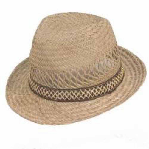 Adult Mens Straw Trilby Pattern Band Trilby Summer hat