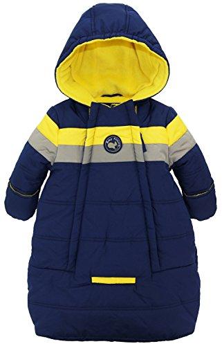IXtreme - Tuta da neve  - Piumino - A righe - Maniche lunghe  - Bebè maschietto blu navy 2 mesi