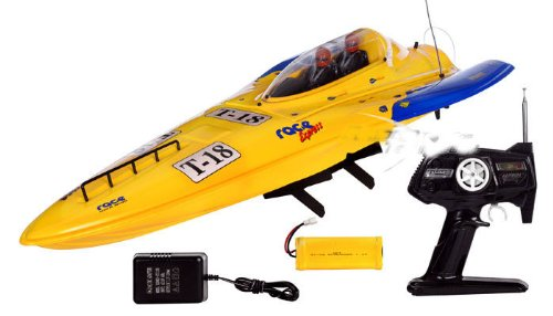 Electric High Wind RTR HUGH 42 in. RC Ready to Run Racing Boat (Yellow)