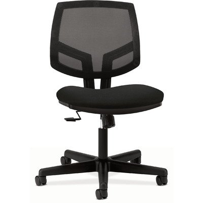 Volt Series Mesh Back Task Chair with Synchro-Tilt, Black Fabric