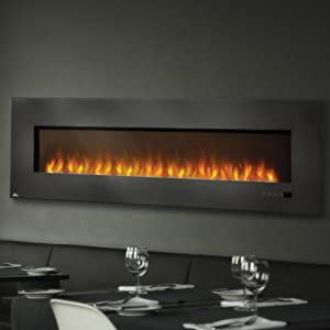 Electric Fireplace Insert With Glass Size 72 Home Kitchen