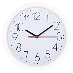 HITO 10-Inch Silent Non-ticking Wall Clock