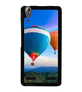 Hot Air Balloon 2D Hard Polycarbonate Designer Back Case Cover for Lenovo A6000 :: Lenovo A6000 Plus :: Lenovo A6000+