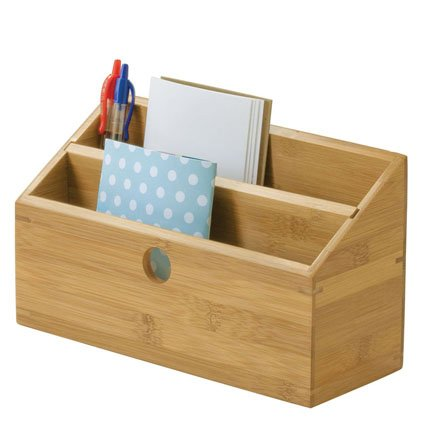 Lipper International Bamboo 2-Slot Mail Organizer