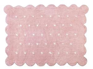 Aratextil. Alfombra Infantil 100% Algodón lavable en lavadora Colección Cookie Rosa 120x160 cms de Aratextil Hogar 26 S.L.