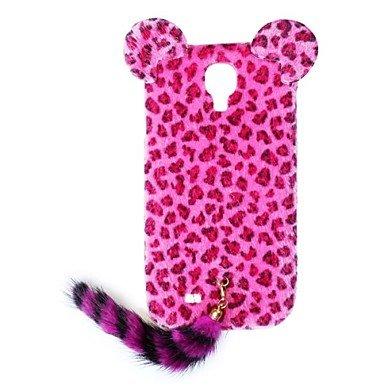 Ty Hw Leopard Print Pattern Protective Plastic Case With Tail For Galaxy S4 I9500 (Assorted Colors) , Pink