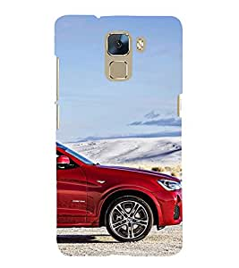 Stylish Car 3D Hard Polycarbonate Designer Back Case Cover for Huawei Honor 7