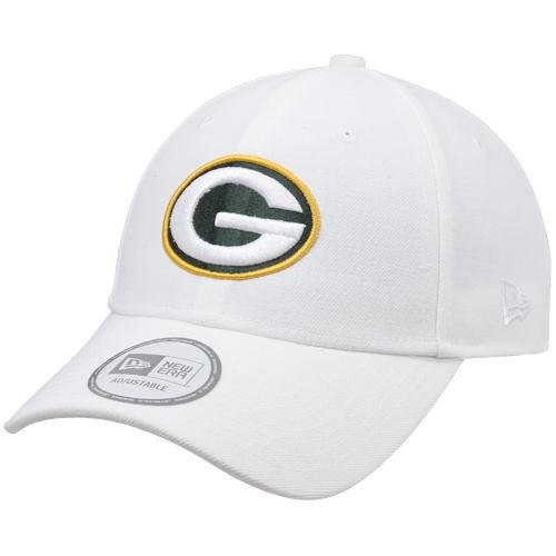 New Era Green Bay Packers 9FORTY NFL Adjustable Hat - White by New Era