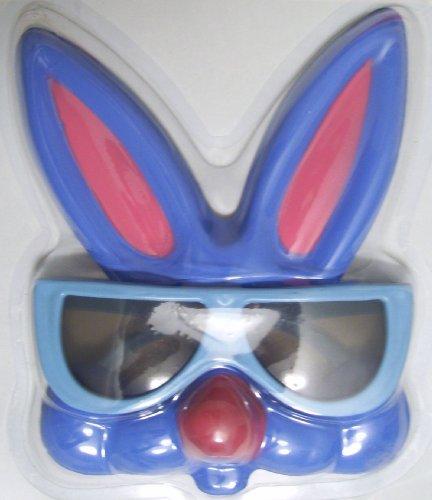 Easter Bunny Costume Glasses, Bunny Glasses, BLUE