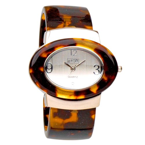 Eton Ladies Brown Tortoise Shell Resin Bangle Watch 2871-1