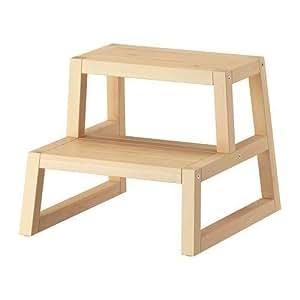 scaletta in legno ikea : Ikea - Sgabello/scaletta Molger in legno massiccio, resistente in ...