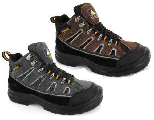 MENS HIKING SAFETY STEEL TOE CAP WORK TRAINERS TREKKING BOOTS SHOES UK SIZE 6-13