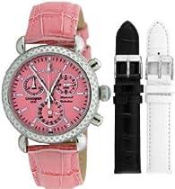 Women Watch Sartego SDPK183P Diamond Strap Chronograph Pink Dial