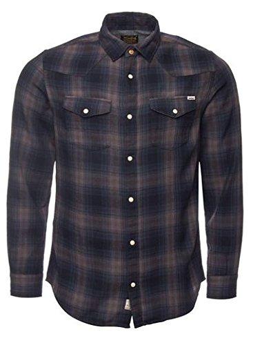 JACK & JONES VINTAGE Jjvbartow Shirt L/S Western, Camicia Uomo, Multicolore (Caviar), Large