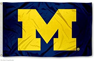 NCAA Michigan Wolverines Flag with Grommets