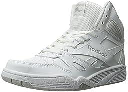 Reebok Men\'s Royal Bb4500 Hi Fashion Sneaker, White/Steel, 12 M US