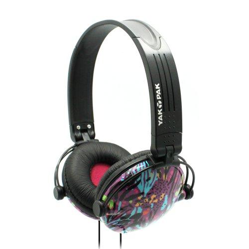 Yak Pak Retro Headphones - Purple Jungle Spots (Hp6391-539)
