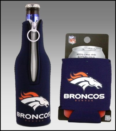 SET OF 2 DENVER BRONCOS CAN & BOTTLE KOOZIE COOLER at Amazon.com