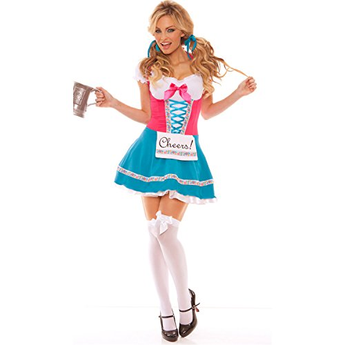 Sexy4Lady Women's Bavarian Beer Babe Costume