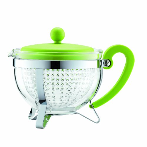 Bodum Chambord 1-Liter Tea Pot, 34-Ounce, Green