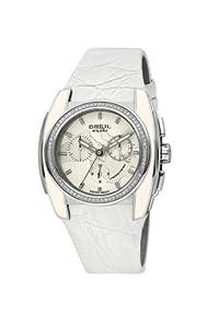 Breil WATCH MEDITERRANEO CAIMAN CROCODYLUS FUSCUS WHITE S BW0512 - Reloj de mujer de cuarzo, correa de piel color blanco
