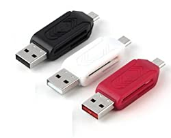Universal Micro USB SD TF Card Reader ( Pack Of 3 Pcs - Colors May Vary ) Micro USB OTG Adapter For Android Mobile Phones Laptop Pc Only From M.P.Enterprises