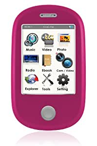 Ematic EM638VIDPN Touch Screen MP3 Video Player with 5MP Camera with LED Flash and Video Recording