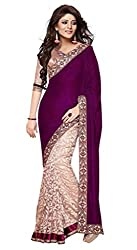Radhe Studio brown velvet saree