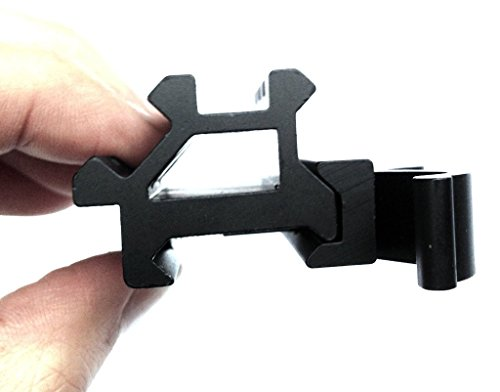 Lever Locking System : Rifle scope angle mount double slot rail with integral